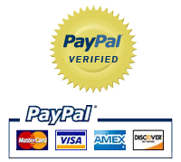 Pay securely with any major credit card through PayPal!